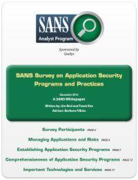 Umfrage zu Anwendungssicherheitsprogrammen und -praktiken
