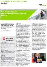 User Virtualization als Schlüsseltechnologie für Malteser Smart.IT
