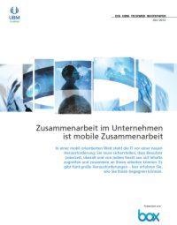 Zusammenarbeit im Unternehmen ist mobile Zusammenarbeit