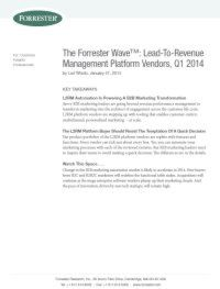 Lead-To-Revenue Managementplattform-Anbieter, Q1 2014