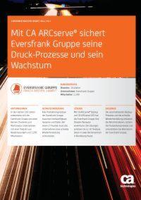 Backup-Lösung sichert Druck-Prozesse