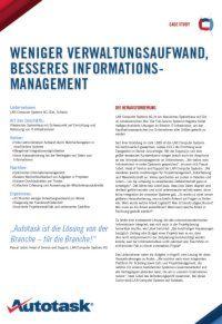 Weniger Verwaltungsaufwand, besseres Informationsmanagement