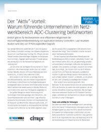 Warum Unternehmen ADC-Clustering befürworten