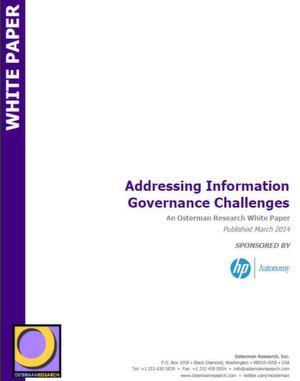 Sich den Herausforderungen von Information Governance stellen