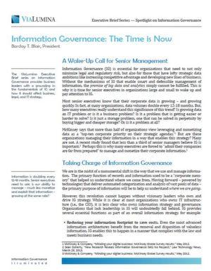 Information Governance: Die Zeit ist reif