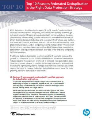 Kombinierte Deduplizierung als richtige Datenschutzstrategie