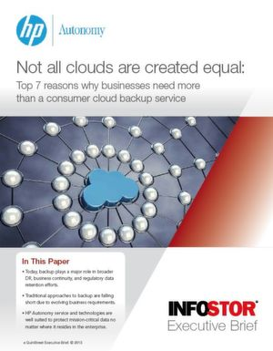 Warum Unternehmen mehr als einen Consumer-Cloud-Sicherungsdienst brauchen