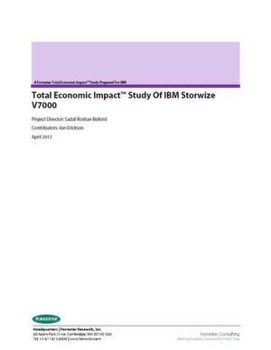 Total Economic Impact™ Studie von IBM Storwize V7000