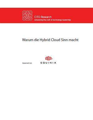 Warum die Hybrid Cloud Sinn macht