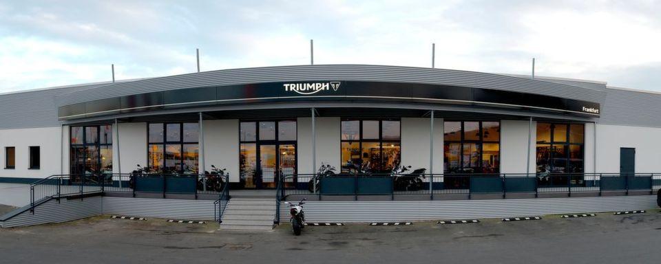Die Triumph Niederlassung in Frankfurt.
