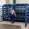 Lagerung von Blechen und Tafeln direkt an der Bearbeitungsmaschine