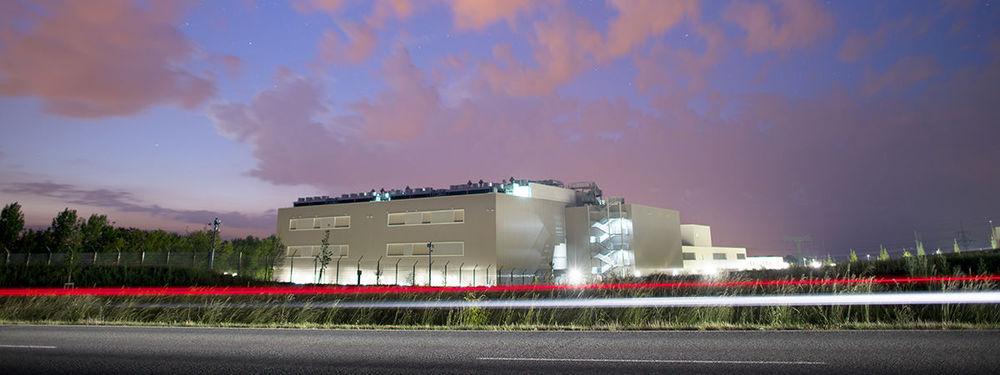 Blick auf das Telekom-Rechenzentrum in Biere