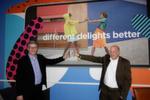 Ganz nach dem Motto 'different delights better', leben auch (l.) Lars Henkel und Stefan Engel, Lenovo.