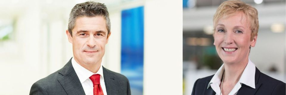 Bechtle-Vorstand Michael Guschlbauer und Microsoft-Geschäftsführerin Sabine Bendiek dehnen die Partnerschaft von Systemhaus und Hersteller auf das Public-Cloud-Geschäft aus.