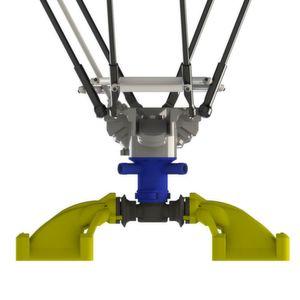 Vollständige Sauggreifer-Baugruppe von Anubis, hier an einem Roboter befestigt.