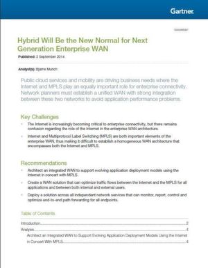Hybrid wird sich zur neuen Normalität im Unternehmens-WAN der nächsten Generation entwickeln.