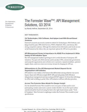 API Management Solutions, Q3 2014