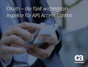 5 wichtige Aspekte für API Access Control