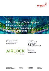 EBA-Leitlinien zur Sicherheit von Internetzahlungen