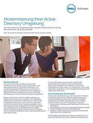 Modernisierung Ihrer Active Directory Umgebung