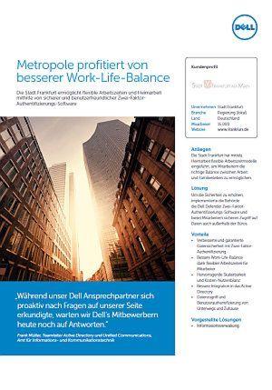 Metropole profitiert von besserer Work-Life-Balance