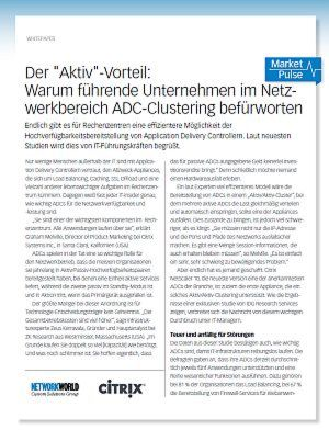 Warum Unternehmen im Netzwerkbereich ADC-Clustering befürworten