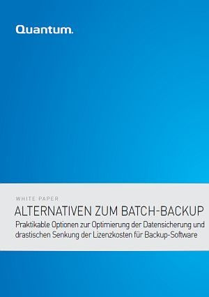 Alternativen zum Batch-Backup