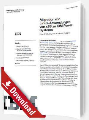 Migration von Linux-Anwendungen von x86 zu IBM Power Systems
