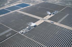 Parabolrinnenkraftwerk in Kalifornien. Bild: Solar Millennium AG