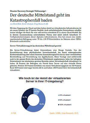 Der deutsche Mittelstand geht im Katastrophenfall baden