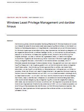 Windows Least Privilege Management und darüber hinaus