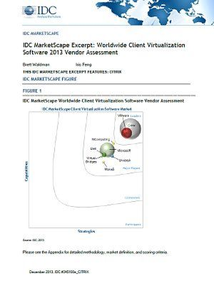 Worldwide Client Virtualization Software 2013 Vendor Assessment