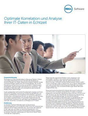 Optimale Korrelation und Analyse der IT-Daten in Echtzeit