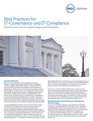 Best Practices für IT-Governance und IT-Compliance