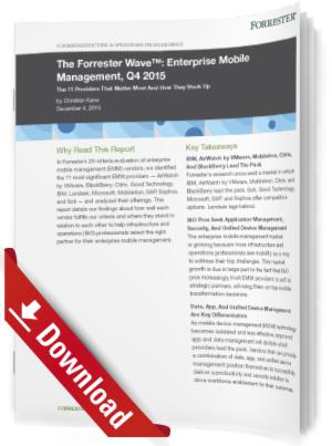 Mobile Management-Lösungen im Unternehmen, 4. Quartal 2015