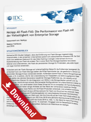 Die Performance von Flash mit der Vielseitigkeit von Enterprise Storage