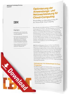 Optimierung der Anwendungs- und Netzwerkleistung für Cloud-Computing