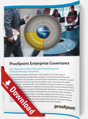 In-Place-Informationsverwaltung und Datenspeicherungs-Compliance