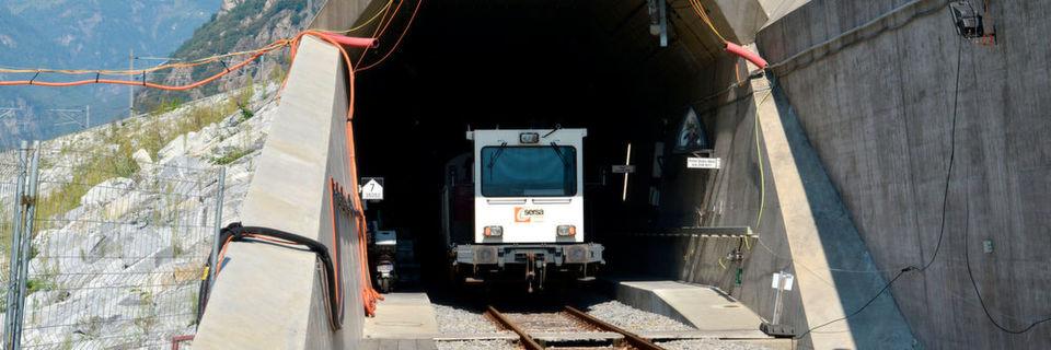 Die Einfahrt in den Gotthard-Basistunnel