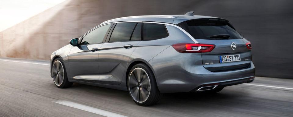 Opel stellt auf dem Genfer Automobilsalon den neuen Insignia Sports Tourer vor.