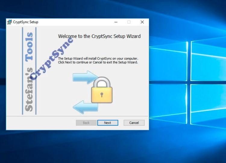 Die Installation von CryptSync erfolgt über einen Installationsassistenten per MSI-Dateien. Die Installation lässt sich mit Skripten