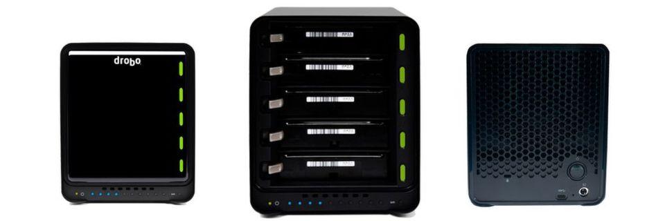 Das Drobo 5C ist die erste DAS-Lösung des kalifornischen Storage-Herstellers mit USB-Typ-C-Anschluss. Das Array kann Laufwerke mit maximal 64 TByte Speicherplatz aufnehmen.