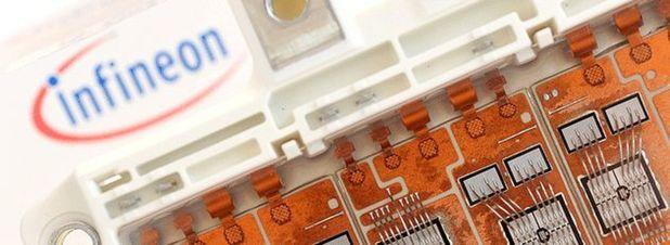 Archivfoto: Infineon IGBT-Modul. Die millionenschwere Übernahme der Cree-Sparte für SiC-Leistungshalbeiter und HF-Komponenten Wolfspeed durch den Chipkonzern Infineon droht am Widerstand der US-Behörden zu scheitern