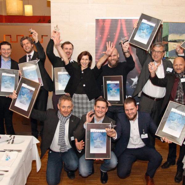 Große Freude bei allen Award-Gewinner des Abends!
