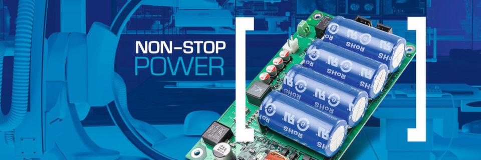 Wartungsfreie Super-Cap-USV-Lösungen: Medizin- und Laborgeräte arbeiten ausfallsicher und sind für den langjährigen, wartungsfreien 24/7-Dauerbetrieb ausgelegt.