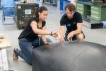 Bau des Hyperloop-Prototypen der TU München, der Ende Januar in Los Angeles als schnellster Prototyp hervorging.