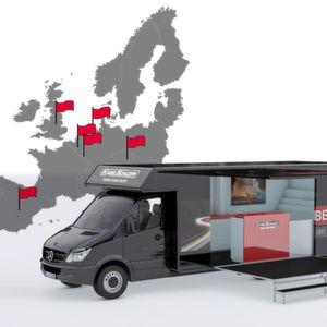 Roadshow von Kabelschlepp – mit mobilem Messestand zu den Kunden