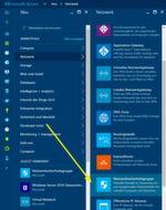 Netzwerksicherheitsgruppen werden im Webportal von Microsoft Azure verwaltet. Dazu steht ein eigener Bereich über den Menüpunkt Netzwerke zur Verfügung. Hierüber startet der Assistent zur Erstellung von Netzwerksicherheitsgruppen.