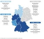 Die Durchschnittsgehälter nach Bundesländer in Deutschland.