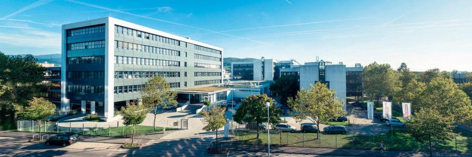 Die Unternehmenszentrale der Haufe Gruppe in Freiburg.